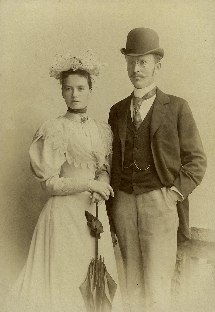 Geschichte - Mag.pharm. Franz Luft, der Gründer der Elisabeth-Apotheke, und seine Frau Elisabeth, geborene Fellner