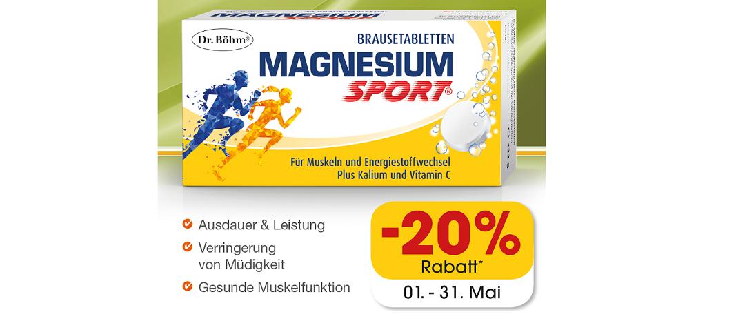Dr.Böhm Magnesium Sport  – Aktion