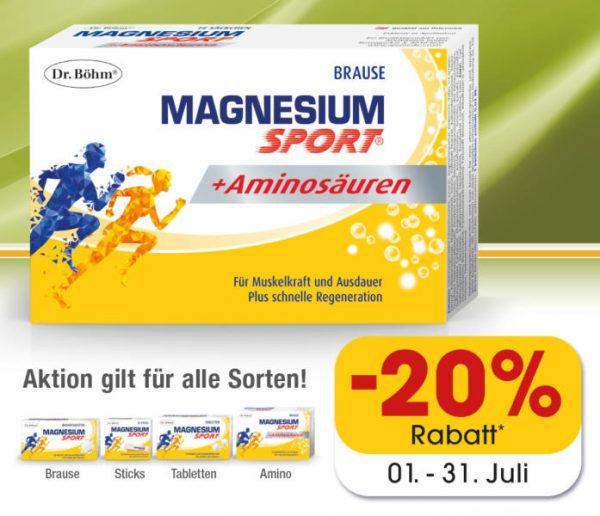 Dr. Böhm  Magnesium Sport Aktion – Juli